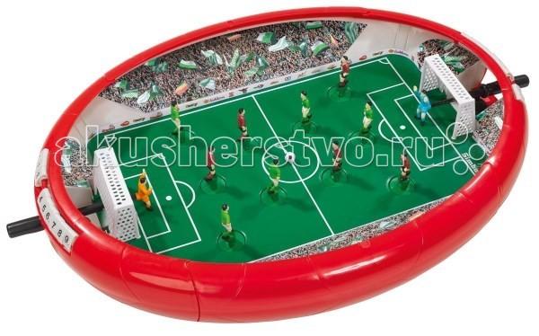 Simba Футбольная аренаФутбольная аренаНастольная игра Simba Футбольная арена   Игра рассчитана на двух игроков. Управление игроками осуществляется благодаря движению пружин, а вот вратарь передвигается при помощи рукоятки, которая находится сзади ворот. Футбольная команда состоит из шести игроков.   В наборе:    3 футбольных мяча;  игровое поле с вратарями и игроками.   Счёт игры можно выставлять на табло ручным способом  Размер игровой площадки: 55 х 41 х 8 см<br>