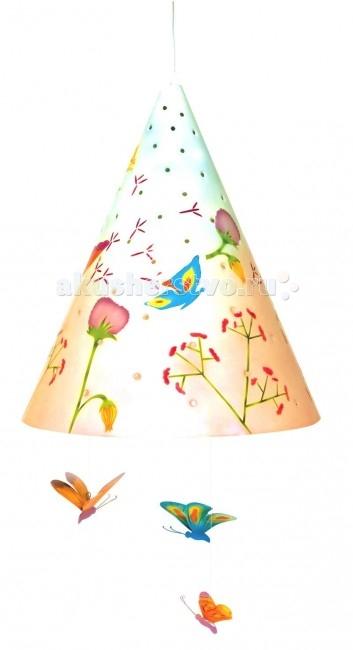 Светильник L'oiseau Bateau потолочный Полевые цветыпотолочный Полевые цветыПотолочный светильник Полевые цветы станет прекрасным украшением детской комнаты.   Каждая деталь выполнена французскими ремесленниками вручную.  Размер: 35 см В х 28 см Д  Материал: металл (сталь).  В комплект светильника входят лампы E27 – 60 Вт.<br>