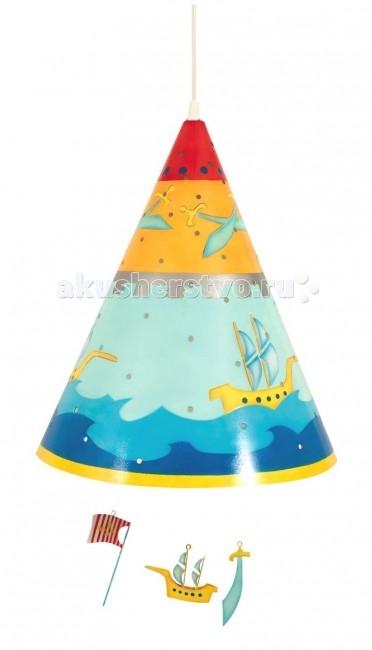 Светильник L'oiseau Bateau потолочный Пиратпотолочный ПиратПотолочный светильник Пират станет прекрасным украшением детской комнаты.   Каждая деталь выполнена французскими ремесленниками вручную.  Размер: 35 см В х 28 см Д  Материал: металл (сталь).  В комплект светильника входят лампы E27 – 60 Вт.<br>