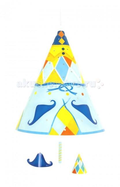 Светильник L'oiseau Bateau потолочный Арлекинпотолочный АрлекинПотолочный светильник Арлекин станет прекрасным украшением детской комнаты.   Каждая деталь выполнена французскими ремесленниками вручную.  Размер: 35 см В х 28 см Д  Материал: металл (сталь).  В комплект светильника входят лампы E27 – 60 Вт.<br>