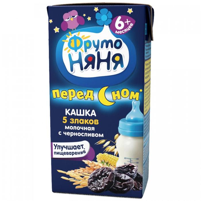 Каши ФрутоНяня Молочная каша из пяти злаков с черносливом 200 мл молочная продукция pediasure малоежка с пищевыми волокнами со вкусом ванили для энтерального питания от 1 года до 10 лет 200 мл