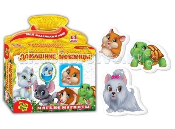 Раннее развитие Vladi toys Игра магнитная Домашние любимцы мозаика vladi toys мозаика магнитная львенок и жираф 67 деталей