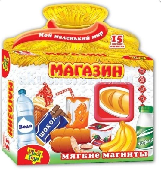 Раннее развитие Vladi toys Игра магнитная Магазин набор для творчества тм vladi раскраски глиттером сова