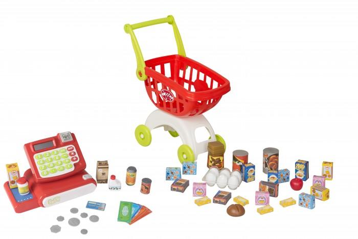 HTI Шоппинг центрРолевые игры<br>Шоппинг центр расплачивайтесь игровыми деньгами или кредитной картой. Этот игровой набор способствует развитию воображения, социальному взаимодействию, коммуникации и помогает развивать математические навыки. Набор содержит: Кассовый аппарат Тележку для покупок и Аксессуары.  Выкладывайте покупки на кассу, сканируйте штрихкод продукции сканером и считайте точную сумму на клавиатуре кассы - она работает как калькулятор.  Требует 2 x AA (включены) батареи.  Для детей от 3-х лет