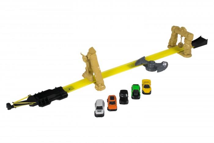 Машины HTI Трек Teamsterz Роковая черта с 5-ю машинками