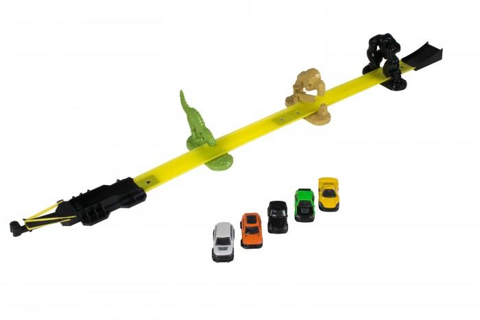 Машины HTI Трек Teamsterz Точка сноса с 5-ю машинками