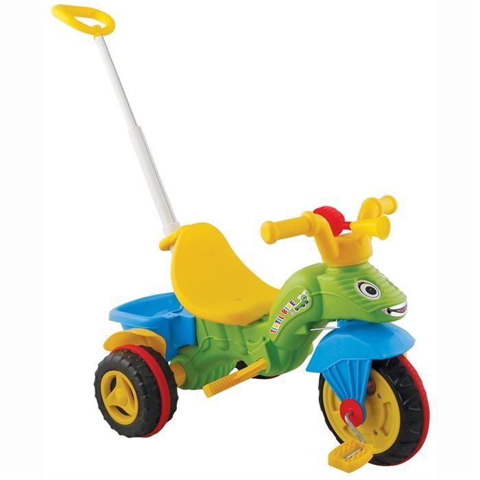 Велосипед трехколесный Pilsan TirtilTirtilВелосипед трехколесный Pilsan Tirtil c ручкой - приведет в восторг Вашего ребенка. Модель выполнена в форме веселого дракончика, благодаря чему кататься малышу будет весело и интересно. Также малыш обязательно обрадуется простому, но громкому гудку, благодаря которому он сможет приветствовать друзей на улице и изображать драконий рев.   Tirtil представляет собой трехколесный велосипед с педалями на переднем колесе. Глубокое сиденье и спинка создают необходимый уровень комфорта и безопасности. Также велосипед оснащен корзиной за сиденьем и клаксоном. Передняя часть велосипеда стилизована под веселую черепашку.  Велосипед оснащен выдвижной ручкой родительского контроля, соединенной с рулевым управлением.  Велосипед идеально подходит для прогулок во дворах и в парках. Легкость в использовании дает возможность малышу кататься самостоятельно.<br>
