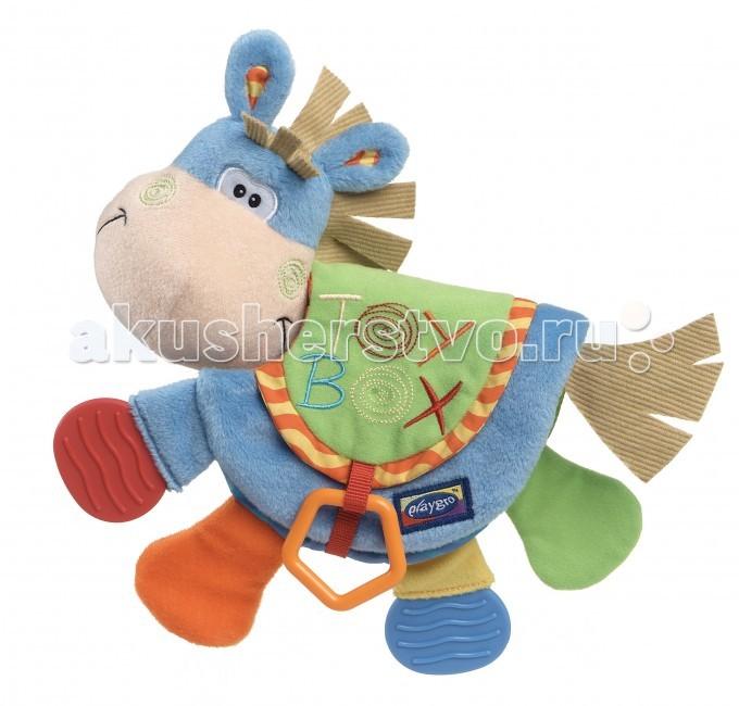 Книжки-игрушки Playgro Развивающая книжка Веселый Ослик 0101146, Книжки-игрушки - артикул:6244