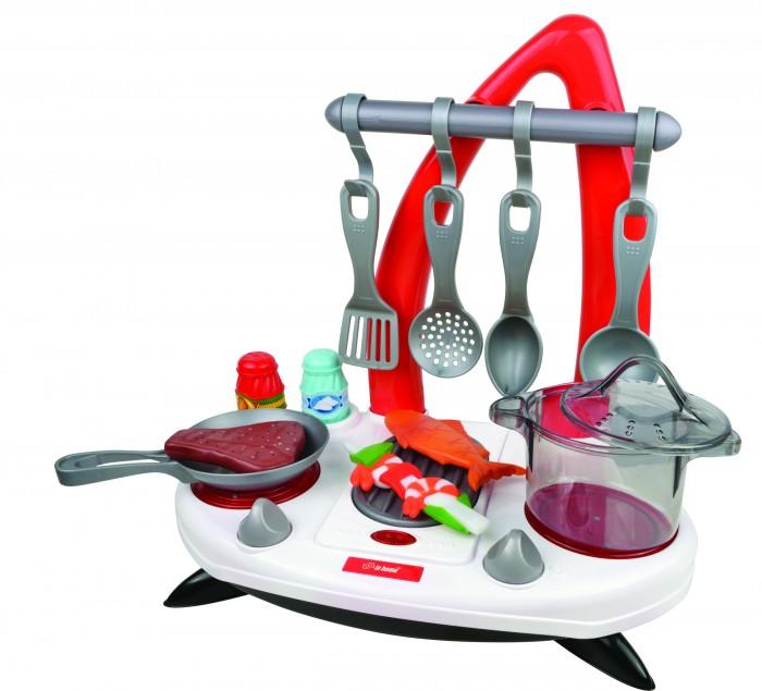 Red Box Игровой набор Кухонная плита 16 предметовРолевые игры<br>Red Box Игровой набор Кухонная плита 16 предметов станет любимой игрушкой юного повара.  Игрушка предназначена для сюжетно-ролевых игр, способствует развитию воображения, познавательного мышления и моторики.  В наборе:  кухонные принадлежности  4 крючка 1 перечница 1 солонка 1 кастрюля стейк рыба  кебаб