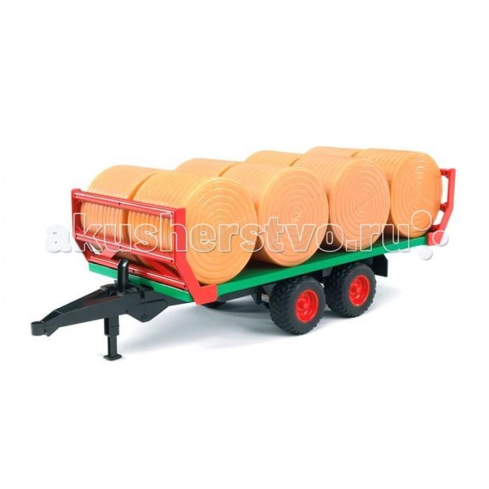 Машины Bruder Прицеп для перевозки рулонов сена с 8 рулонами 02-220