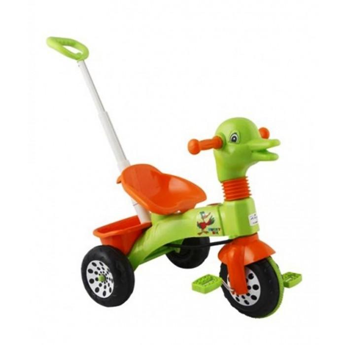 Велосипед трехколесный Pilsan Ducky с ручкойDucky с ручкойВелосипед трехколесный Pilsan Ducky с ручкой с педалями на переднем колесе.  Руль украшен головой утки. Глубокое сиденье и ремень безопасности создают необходимый уровень комфорта и безопасности.   Также велосипед оснащен корзиной под сиденьем и музыкальной панелью.  Велосипед оснащен выдвижной ручкой родительского контроля, соединенной с рулевым управлением.  Велосипед идеально подходит для прогулок во дворах и в парках. Легкость в использовании дает возможность малышу кататься самостоятельно.   Велосипед Pilsan Ducky Bike способствует развитию опорно-двигательного аппарата ребенка, укреплению суставов и координации в пространстве.<br>