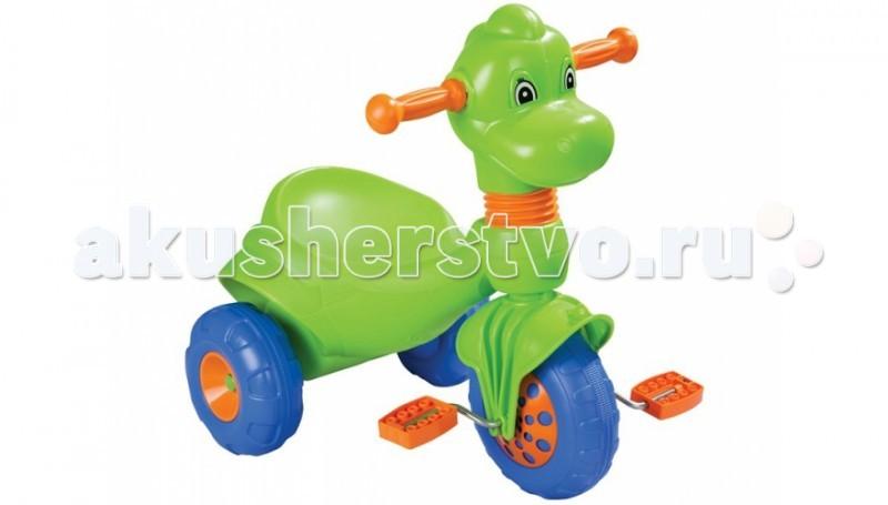 Велосипед трехколесный Pilsan Dino 07 148Dino 07 148Велосипед трехколесный Pilsan Dino в коробке с педалями на переднем колесе. Глубокое сиденье создает необходимые уровень комфорта ребенка и не позволяет ему случайно упасть.  Максимальный вес ребенка не должен превышать 50 кг.  Велосипед лучше всего подходит для коротких прогулок с ребенком на детской площадке и во дворе дома.  Способствует развитию опорно двигательного аппарата ребенка, укреплению суставов и координации в пространстве.<br>