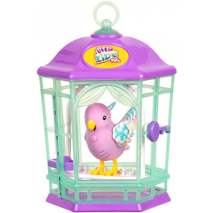 Интерактивная игрушка Little live Pets Птичка с клеткой со светящимися крылышками Радужный Свет