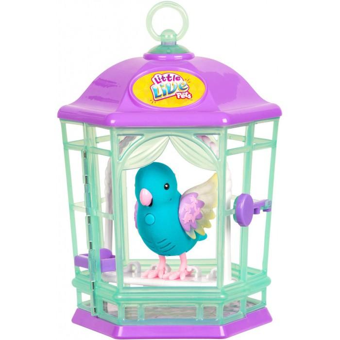 Купить Интерактивные игрушки, Интерактивная игрушка Little live Pets Птичка с клеткой со светящимися крылышками Небесный Колокольчик