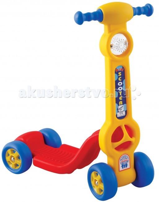 Трехколесный самокат Pilsan Mini ScooterMini ScooterСамокат Pilsan Mini Scooter легкий, пластиковый для детей от 3 лет.  Катание на самокате – одно из самых любимых развлечений у детей! Этот самокат разу привлечёт внимание Вашего малыша, ведь он такого яркого цвета, а на руле красуется красивая фара.   Четыре колеса делают самокат более устойчивым, а значит и более удобным и безопасным для самых маленьких гонщиков!  Выдерживает до 20 кг.<br>
