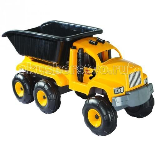 Pilsan Самосвал большой Big FootСамосвал большой Big FootPilsan Самосвал большой Big Foot - яркая строительная машинка, которая позволит ребенку увлекательно играть и создавать всевозможные фигурки из песка или перевозить в кузове грузовика мелкие игрушки.   Грузовик поспособствует двигательной активности ребенка, развивает образное мышление и координацию движений малыша.<br>