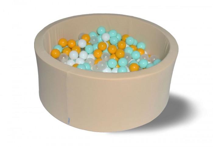 Hotenok Сухой бассейн Ванильная дискотека 40 см с комплектом шаров 200 шт.