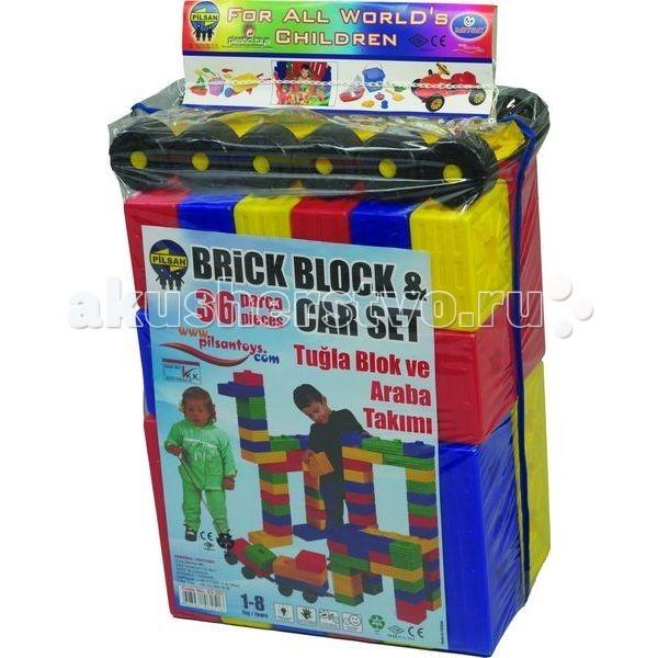 Конструктор Pilsan 36 деталей Brick36 деталей BrickКонструктор Pilsan 36 деталей Brick Вашему малышу понравятся все игровые элементы, выполненные из яркой пластмассы, они разных цветов и яркие.   Увлекательный и развивающий конструктор представляет собой 36 ярких цветных деталей разных форм с пазами.  Данный конструктор способствует умственному развитию ребенка, развитию моторики рук, развитию воображения и пространственного мышления, социальной адаптации.<br>