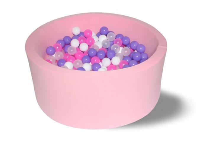 Картинка для Hotenok Сухой бассейн Фиолетовые пузыри 40 см с комплектом шаров 200 шт.