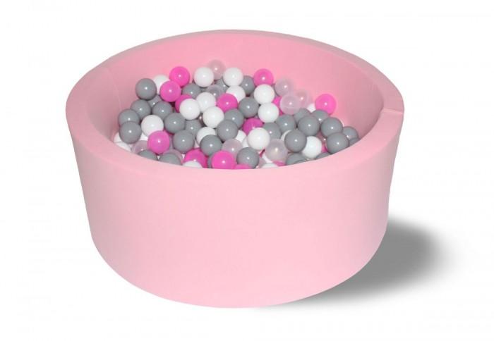 Картинка для Hotenok Сухой бассейн Розовые пузыри 40 см с комплектом шаров 200 шт.