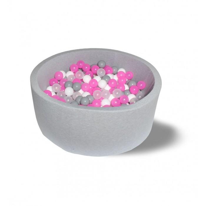 Картинка для Hotenok Сухой бассейн Розовый праздник 40 см с комплектом шаров 200 шт.