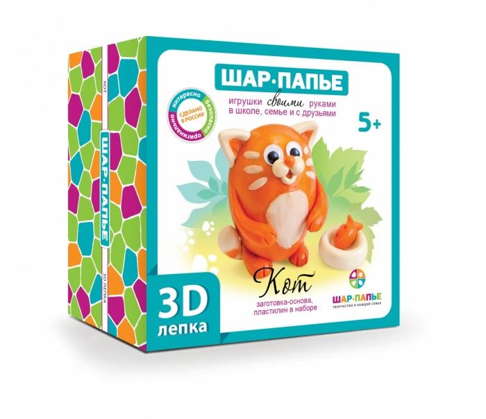 Картинка для Пластилин Шар-папье Набор для творчества 3D-лепка Кот