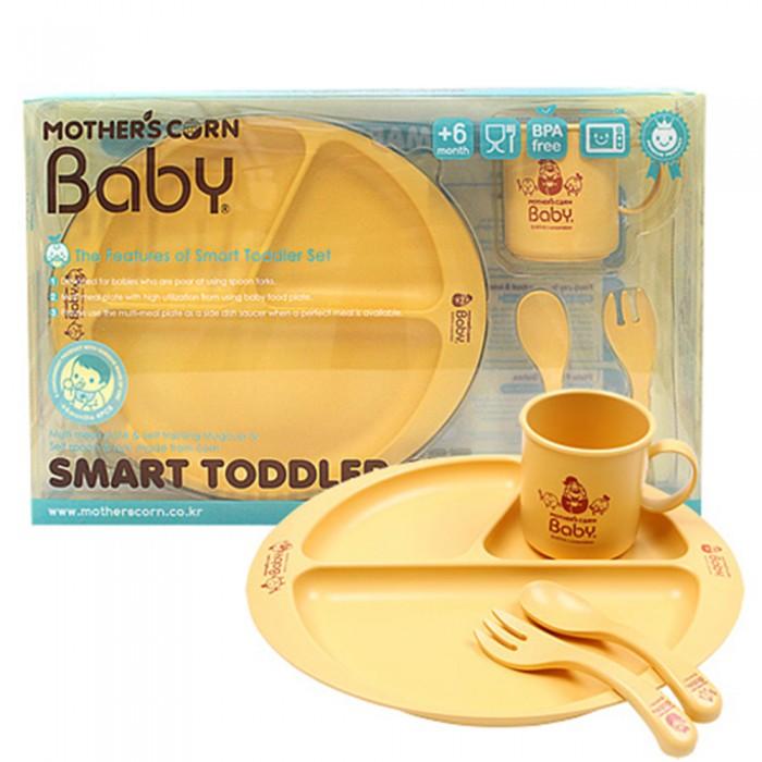 Купить Посуда, Mother's Corn Baby Набор из 4 предметов Умный малыш