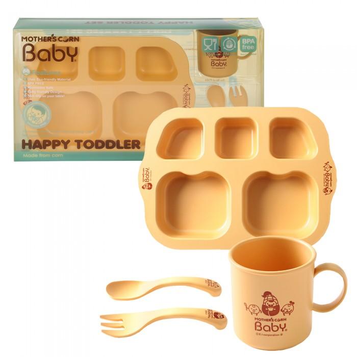 Купить Посуда, Mother's Corn Baby Набор из 4 предметов Счастливый малыш