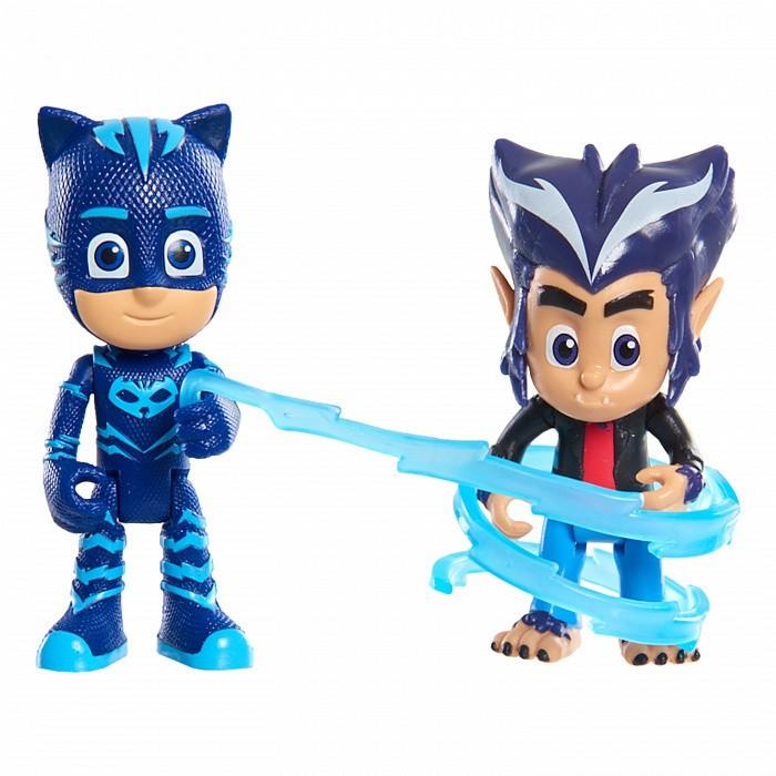 Купить Игровые фигурки, Герои в масках (PJ Masks) Игровой набор Кэтбой и волчонок Хоулер 8 см