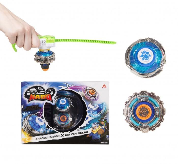 Infinity Nado 2 волчка Сплит Shark&Mecha с пусковым устройством