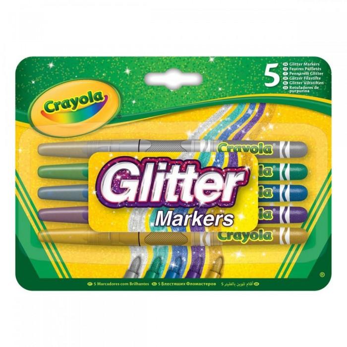 Фломастеры Crayola Блестящие 5 цветов