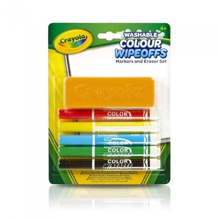 Фломастеры Crayola Набор стираемых с губкой 5 цветов