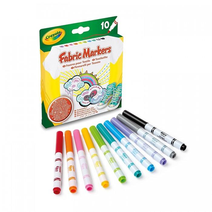 Фломастеры Crayola Для росписи ткани 10 шт.