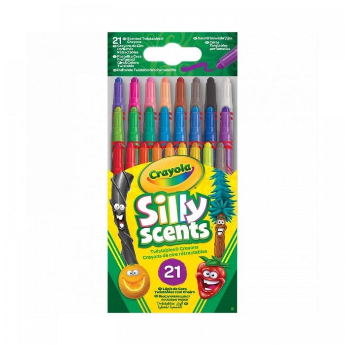 Crayola Ароматизированные выкручивающиеся мини-восковые мелки 24 шт.