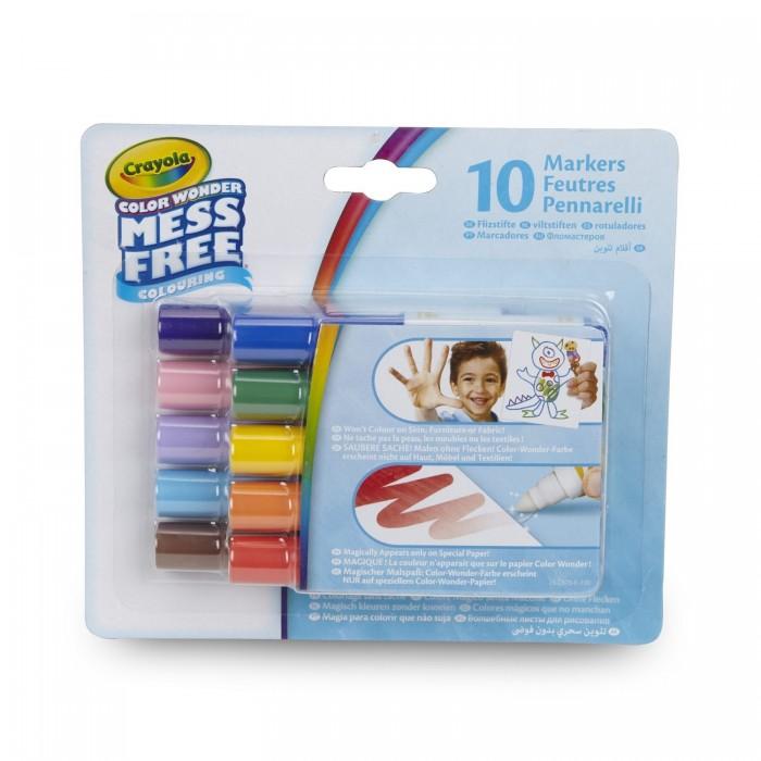 Канцелярия, Crayola Мини-маркеры Color Wonder 10 цветов  - купить со скидкой
