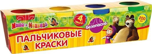 Краски Multiart Маша и медведь пальчиковые краски. люстра на штанге аврора таверна 10077 5l