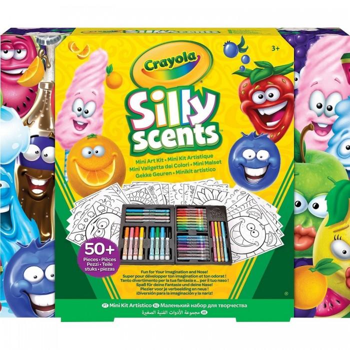 Crayola Мини набор с ароматизированными фломастерами и раскраской