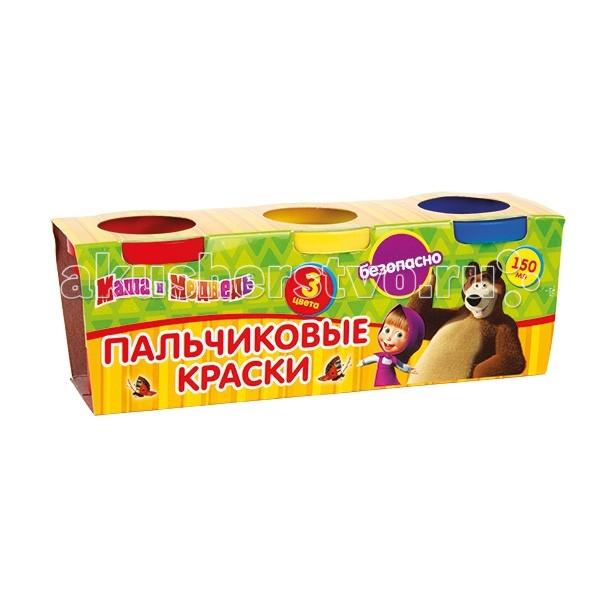 Краски Multiart Маша и медведь пальчиковые краски 3 шт. краски играем вместе набор multiart winx