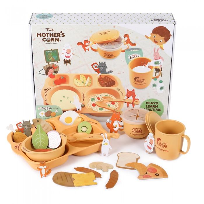 Купить Посуда, Mother's Corn Baby Большой обучающий набор Едим и играем 6 шт.