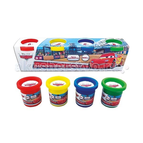 Всё для лепки Multiart Пластилин Disney тачки 4 цвета мелки multiart disney тачки 12 шт