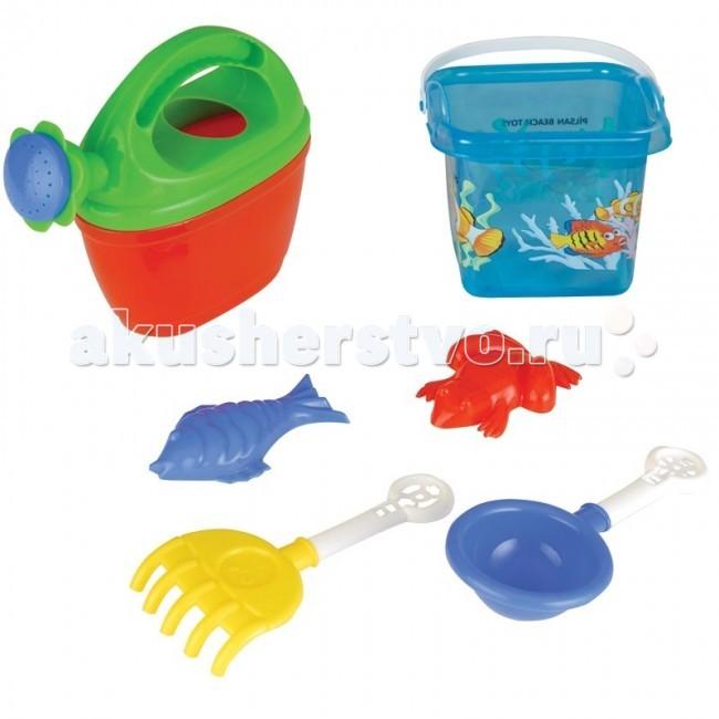 Игрушки для зимы Pilsan Набор для игры в песочнице 6 предметов pilsan песочный набор 5 изделий в тачке