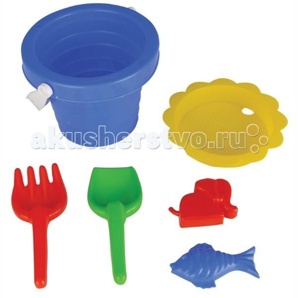 Игрушки для зимы Pilsan Набор для игры в песочнице 6 предметов 06 123 pilsan песочный набор 5 изделий в тачке