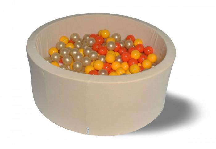 Hotenok Сухой бассейн Бежевое золото 40 см с комплектом шаров 200 шт. от Hotenok