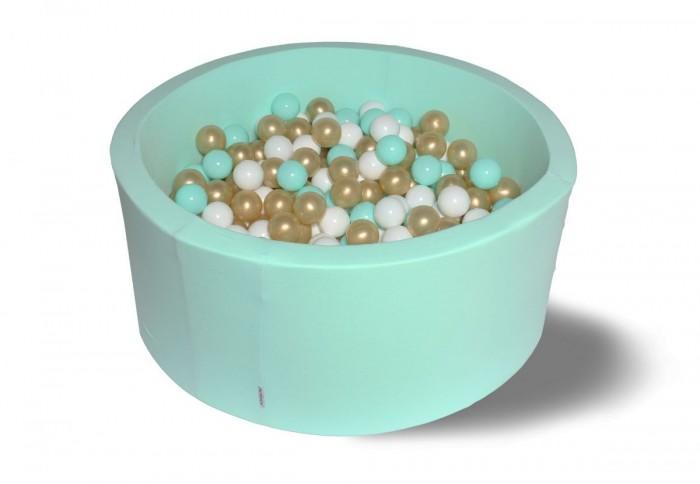 Hotenok Сухой бассейн Золото с минтолом 40 см с комплектом шаров 200 шт. от Hotenok