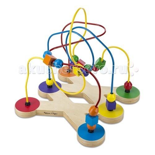 Деревянные игрушки Melissa & Doug Классические игрушки Лабиринт с бусинами музыкальные игрушки melissa