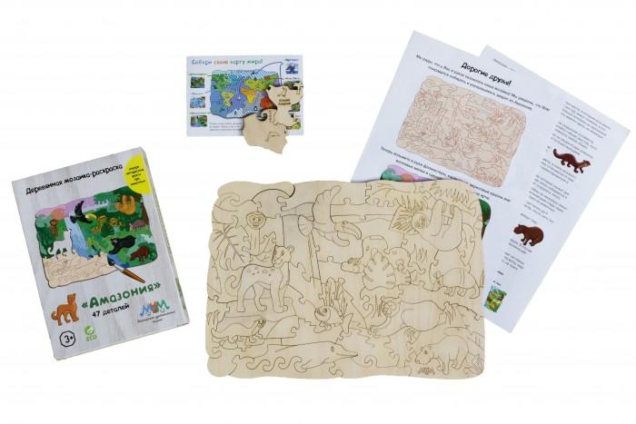 Купить Деревянная игрушка МУМ мозаика-раскраска Амазония в интернет магазине. Цены, фото, описания, характеристики, отзывы, обзоры