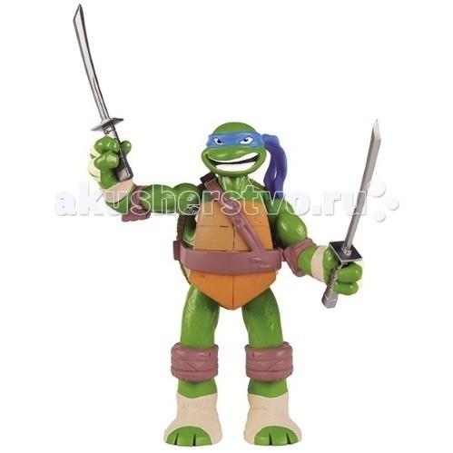Игровые фигурки Turtles Nickelodeon Фигурка Черепашки Ниндзя со звуком Леонардо 12.5-15 см игровые фигурки turtles говорящая фигурка черепашки ниндзя леонардо half shell hero 15 см