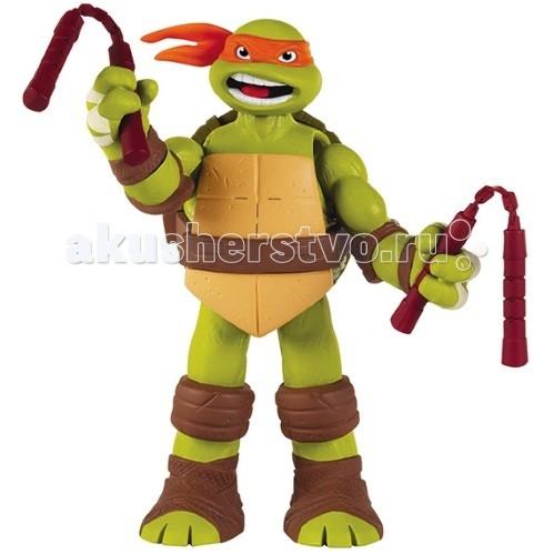 Игровые фигурки Turtles Nickelodeon Фигурка Черепашки Ниндзя со звуком Микеланджело 12.5-15 см игровые фигурки turtles фигурка черепашки ниндзя микеланджело со звуком 15 см