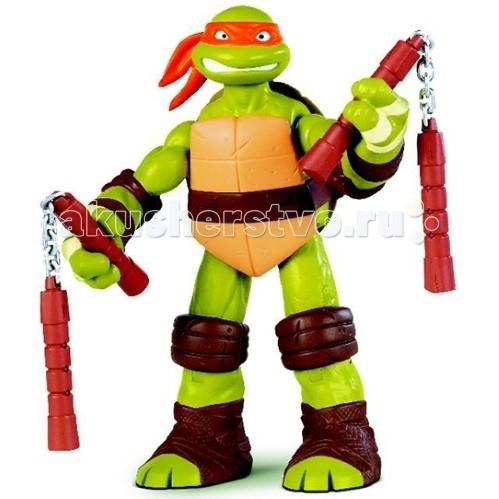 Игровые фигурки Turtles Nickelodeon Фигурка Черепашки Ниндзя Микеланджело 28 см игровые фигурки turtles машинка черепашки ниндзя 7 см сплинтер на атаке сенсея