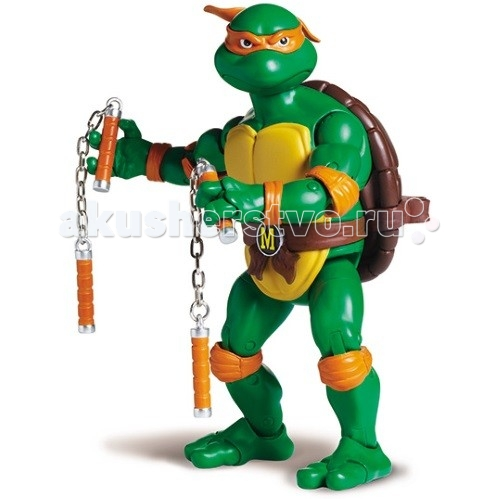 Игровые фигурки Turtles Nickelodeon Фигурка Черепашки Ниндзя Микеланджело 15 см игровые фигурки turtles говорящая фигурка черепашки ниндзя леонардо half shell hero 15 см